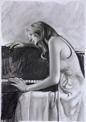Piano Sketch I by Steven Smith -  sized 15x22 inches. Available from Whitewall Galleries